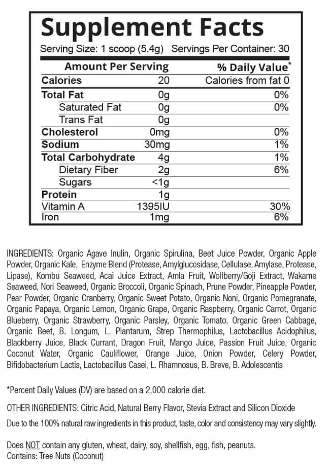 patriot power greens ingredient list